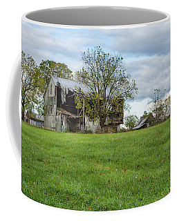 Coffee Mug featuring the photograph A Tired Old Barn by John M Bailey