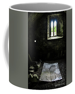 Coffee Mug featuring the photograph A Tombstone In Sligo Abbey by RicardMN Photography