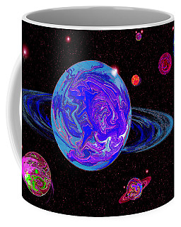 A Touch Of Pink And Green Space Frontier Coffee Mug by Samantha Thome