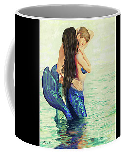 Coffee Mug featuring the painting A Treasured Love by Leslie Allen