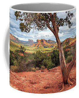 A Tree In Sedona Coffee Mug by James Eddy