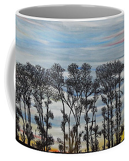 Coffee Mug featuring the painting A Treeline Silhouette by Marilyn  McNish