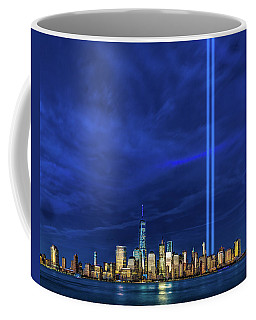 Coffee Mug featuring the photograph A Tribute At Dusk by Chris Lord
