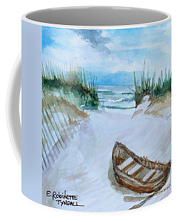Coffee Mug featuring the painting A Trip To The Beach by Elizabeth Robinette Tyndall