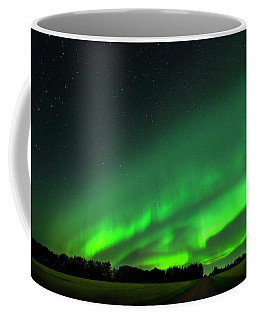 A Tsunami Of Green Coffee Mug