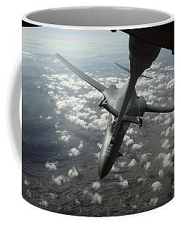 A U.s. Air Force Kc-10 Refuels A B-1b Coffee Mug