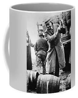 A Us Federal Agent Broaching A Beer Barrel From An Illegal Cargo During The American Prohibition Era Coffee Mug