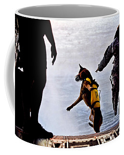 A U.s. Soldier And His Military Working Coffee Mug