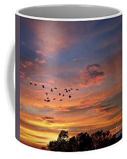 A V Takes Shape At Sunrise Coffee Mug