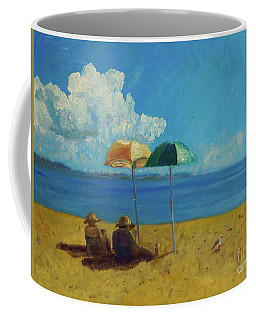 Coffee Mug featuring the painting A Vacant Lot - Byron Bay by Paul McKey