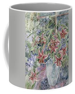 A Vase Of Lilies Coffee Mug by Kim Tran