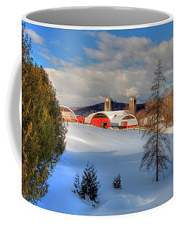 A Vermont Farm In Winter Coffee Mug by Joann Vitali