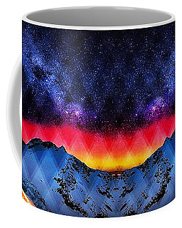 A View From A Winter Mountain Top Coffee Mug