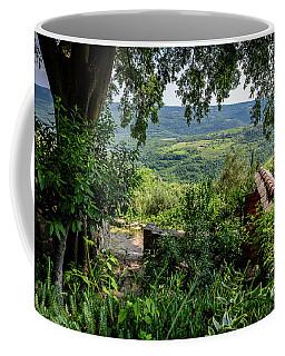 A View From Groznjan Of The Istrian Hill Town Countryside, Istria, Croatia Coffee Mug