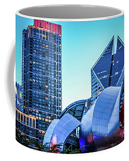 A View From Millenium Park At Dusk Coffee Mug