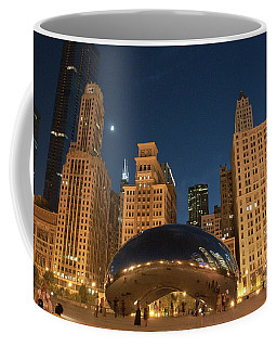A View From Millenium Park At Night Coffee Mug