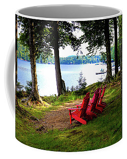 Coffee Mug featuring the photograph A View Of Big Moose Lake by David Patterson