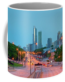 A View Of Columbus Drive In Chicago Coffee Mug