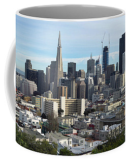 Coffee Mug featuring the photograph A View Of Downtown From Nob Hill by Steven Spak