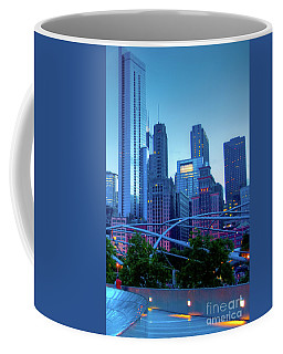 A View Of Millenium Park From The Amoco Bridge In Chicago At Dus Coffee Mug