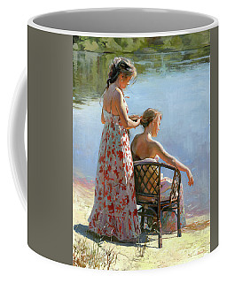 A View On The Pond Coffee Mug