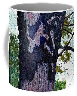 A View Through The Trees Watercolor Batik Coffee Mug
