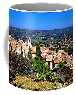 Coffee Mug featuring the photograph A Village In Provence by Olivier Le Queinec