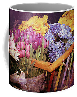 A Wagon Full Of Spring Coffee Mug by Patrice Zinck