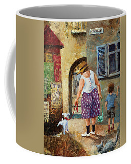 A Walk Down Memory Line Coffee Mug by Igor Postash