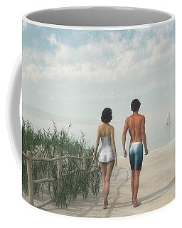 A Walk In The Sand Dunes Coffee Mug