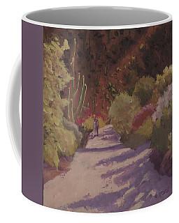 A Walk  On A  Sonoran Desert Road Coffee Mug