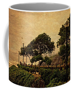 Coffee Mug featuring the photograph A Walk On The Edge - Peru by Mary Machare