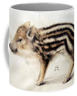 A Wild Boar Piglet Coffee Mug by Hans Hoffmann
