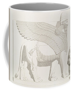 A Winged Human-headed Lion From Nimroud Coffee Mug