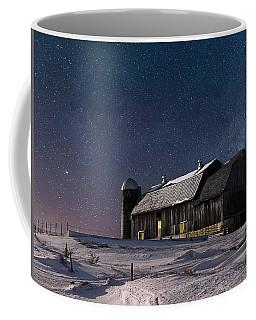A Winter Night On The Farm Coffee Mug by Judy Johnson