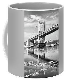 A Winter Portrait Of The Triboro Bridge Coffee Mug