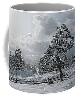 Coffee Mug featuring the photograph A Winter Storm In Pagosa by Jason Coward