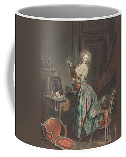 A Woman Playing The Guitar Coffee Mug