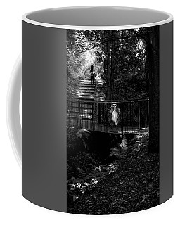 Coffee Mug featuring the photograph A Woman Walking Her Dog At Pittencrieff Park by Jeremy Lavender Photography