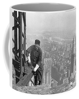 A Worker Bolts Beams During Construction Coffee Mug