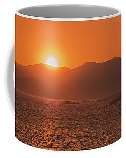 A Wraith Of Smoke Shortly After A Forest Fire Is Extinguished  Coffee Mug