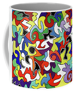 Coffee Mug featuring the painting A Wren's Life by Victoria Bosman