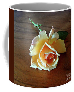 Coffee Mug featuring the painting A Yellow Beauty by Jenny Lee