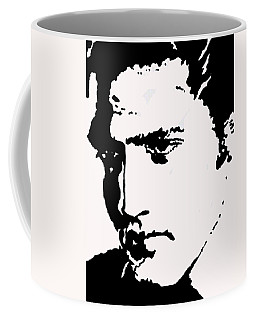 Coffee Mug featuring the drawing A Young Elvis by Robert Margetts