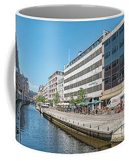 Coffee Mug featuring the photograph Aarhus Canal Activity by Antony McAulay