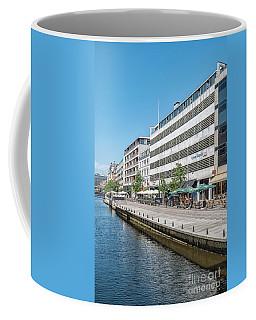 Coffee Mug featuring the photograph Aarhus Canal Scene by Antony McAulay