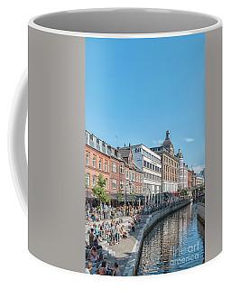Coffee Mug featuring the photograph Aarhus Summertime Canal Scene by Antony McAulay