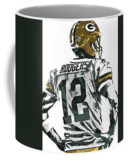 Aaron Rodgers Green Bay Packers Pixel Art 5 Coffee Mug by Joe Hamilton