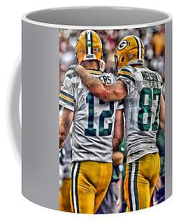 Aaron Rodgers Jordy Nelson Green Bay Packers Art Coffee Mug