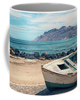 Abandoned Boat Coffee Mug by Delphimages Photo Creations